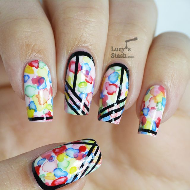 Hand Painted Nail Art With Aquarelle Nails Crystalclawz
