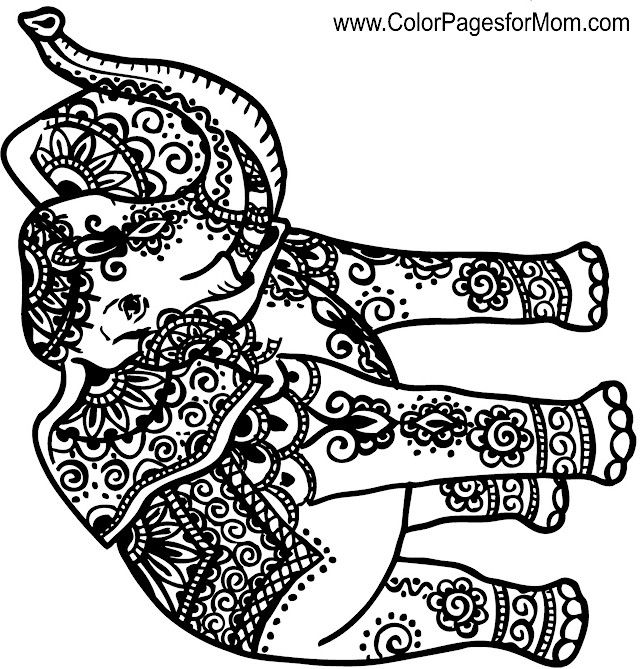 Animal Coloring Page 131 Whimsical Pinterest Christmas Pages Animals