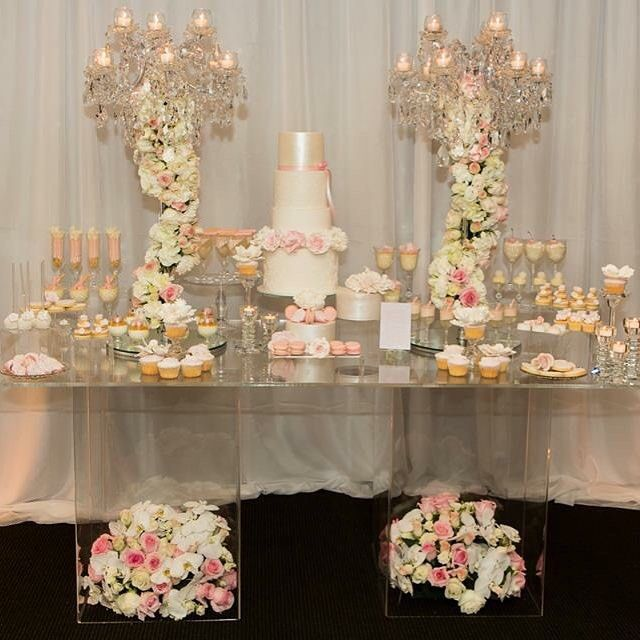 Our Acrylic Table Available To Hire Acrylictable Hire Prophire Sydneyprophire Tablehire Table Wedding Dessert Table Cake Table Decorations Acrylic Table