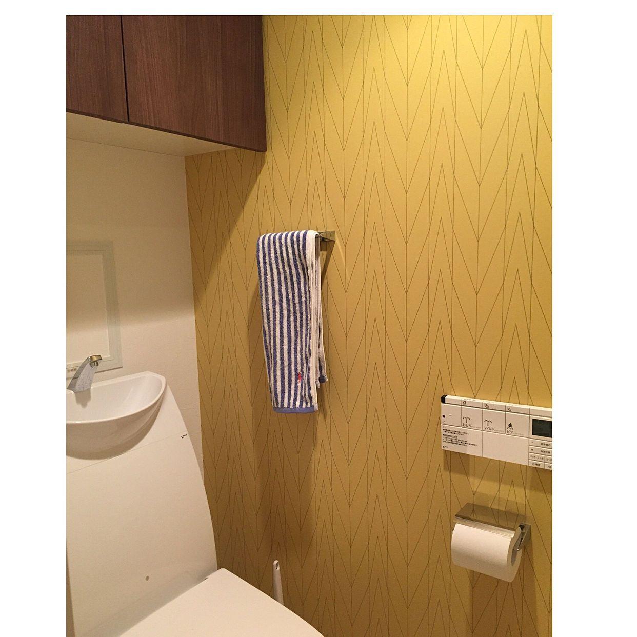 バス トイレ 北欧インテリア 壁紙 アクセントクロス トイレ などの