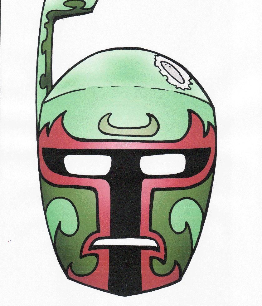 Print Boba Fett Mask Mascaras