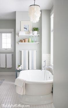 Arctic Gray Benjamin Moore Master Bathroom Decor Bathroom Decor Cottage Bathroom