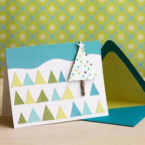 tarjetas de navidad hechas a mano para felicitar de forma original 1