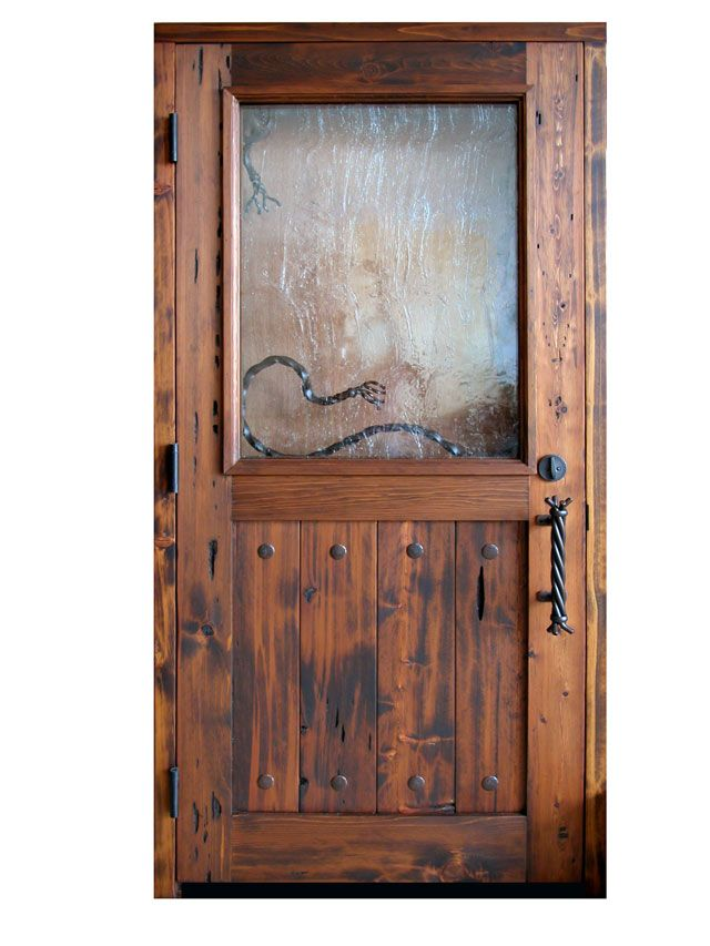 Western Style Front Door Custom Handcrafted Cowboy Themed