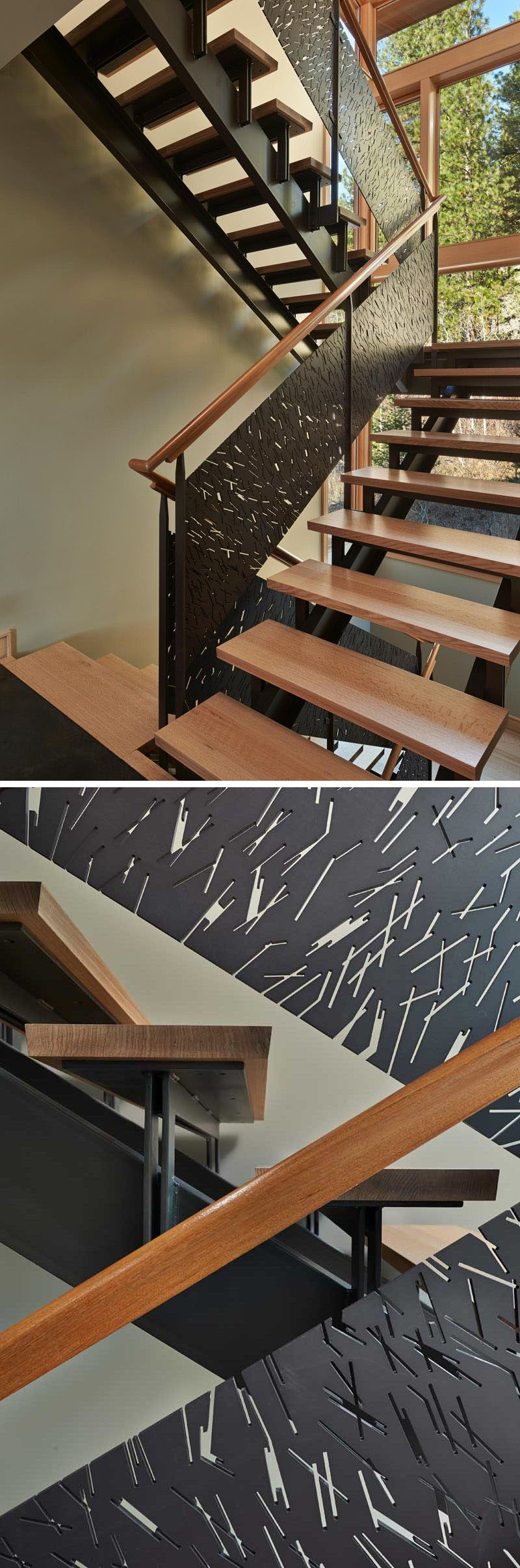 Best 11 Creative Stair Railings That Are A Focal Point In These Modern Houses Metal Stair Railing 640 x 480