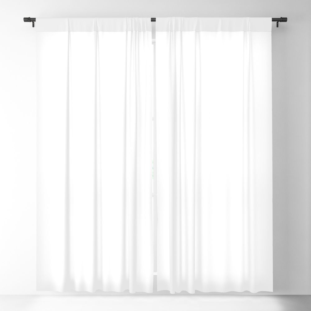 Plain White Simple Solid Color All Over Print Blackout Window Curtains By Podartist In 2020 Blackout Curtains White Blackout Curtains Curtains