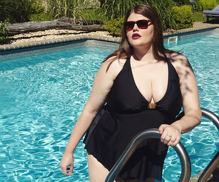 531fb5e389d Beck in her Always For Me Aphrodite tankini  plussize  AFMSwimSquad ...