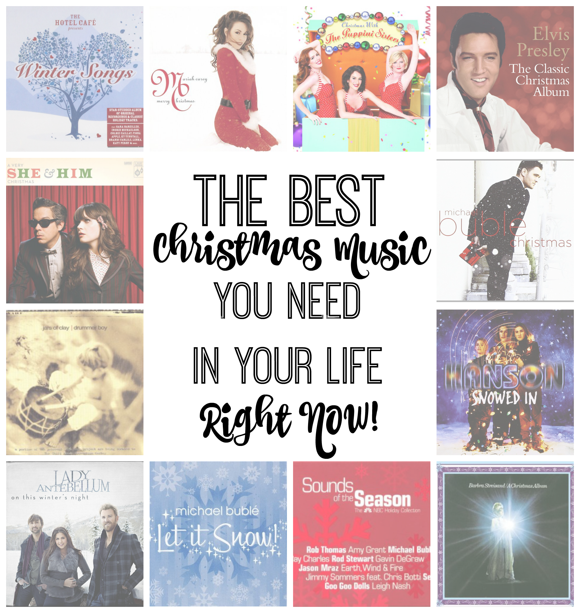 Christmas music is the best! If you don't have these albums and songs in your holiday stash, you need to run out and buy them right now!