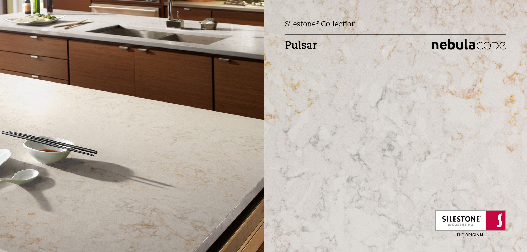 Silestone pulsar with penny tile to pick up gold and off for Price of silestone