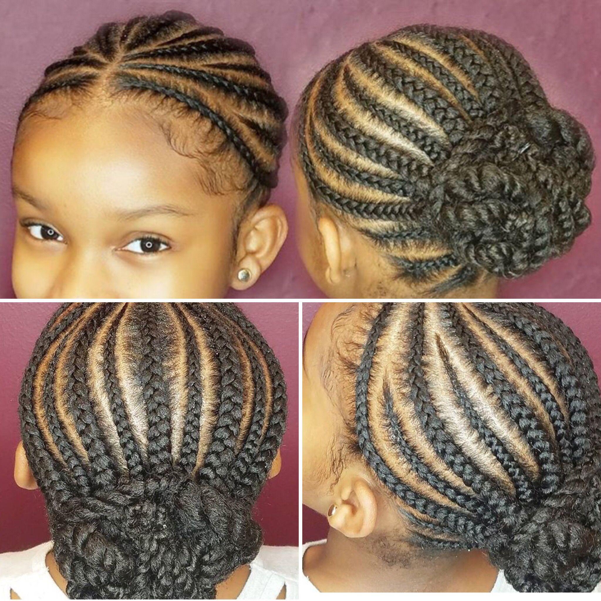 Cornrows Bun Cornrow Hairstyles Girls Hairstyles Braids Kids