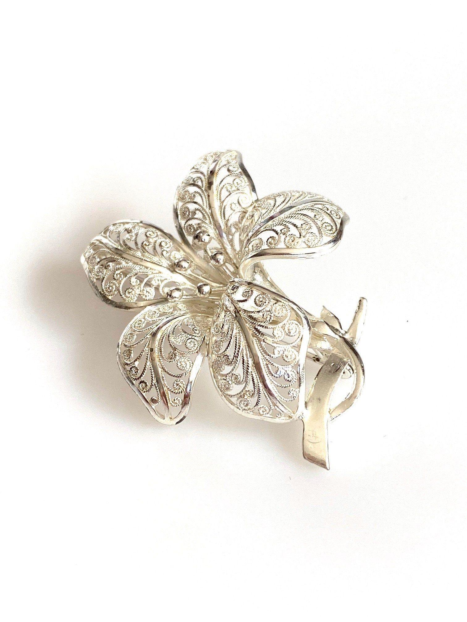 Vintage Silver 835 Brooch Pin