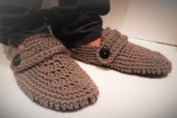640c4765ef5cc Crochet slipper boots/men slippers/men slipper boots/slipper boots ...
