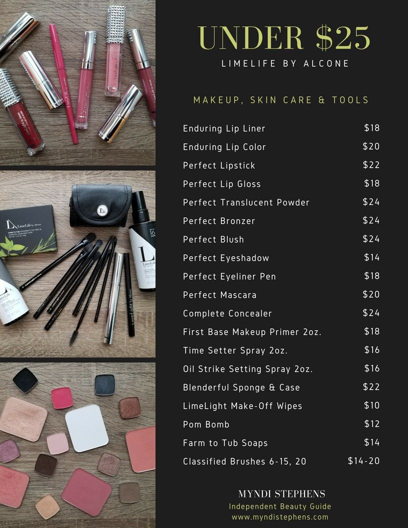 Affordable Makeup! A list of LimeLife by Alcone's products