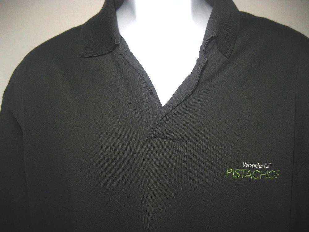 Adidas mens size XL climacool black polo shirt Wonderful Pistachios short sleeve #adidas #PoloRugby