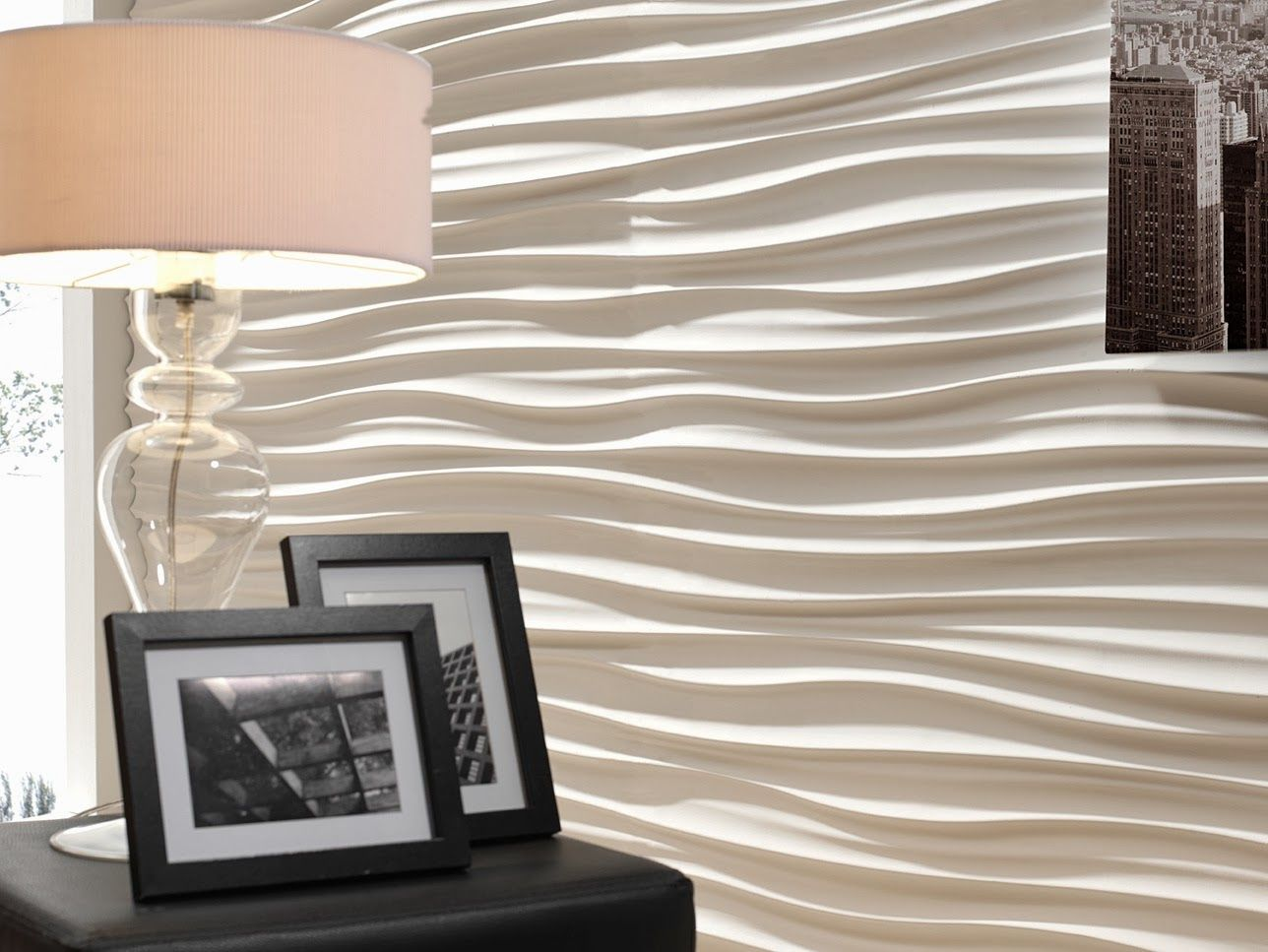 Fabulous faux contemporary interior wall panels from for Interior rock walls designs