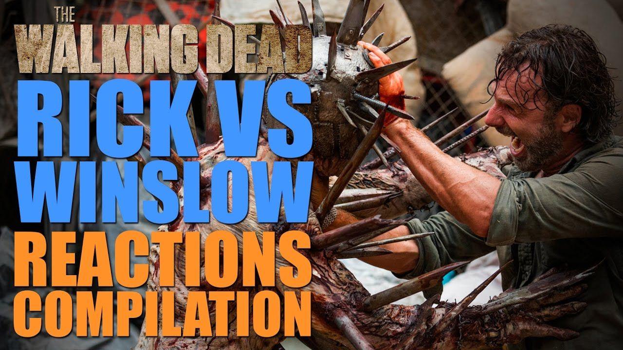 The Walking Dead Season 7   Rick Vs Winslow Reactions Compilation