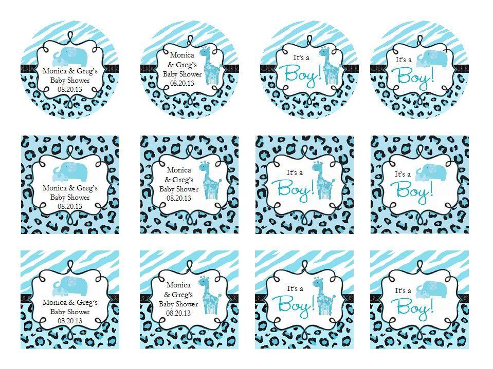 personalized Wild BLUE SAFARI BOY baby shower by shadow090109, $0.49 ...
