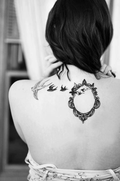 Espelho e pássaros