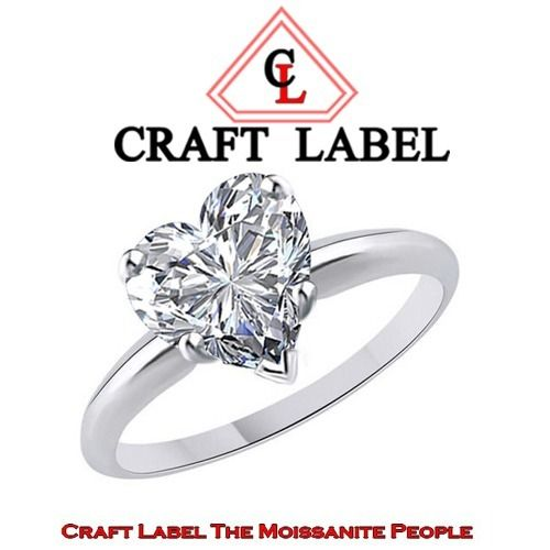 """3.25 Ct Heart Shape White Topaz 14K Gold Solitaire Engagement Ring Size 5 """"Mother\'s Day Gift"""". Starting at $1"""