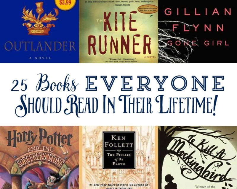 25 Books Everyone Should Read In Their Lifetime Pinterest Books