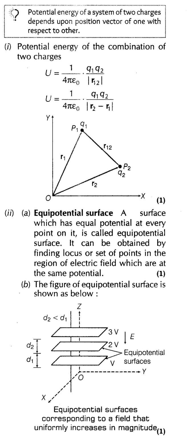 Electrostatic Potential and Capacitance Important Questions