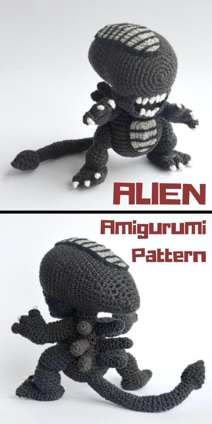 Amigurumi Little Martian Space Alien Free Crochet Patterns - DIY ... | 1400x700