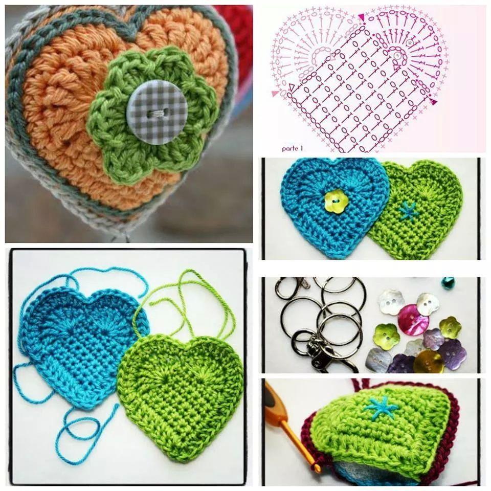 Corazon crochet patron | llaveros | Pinterest | Corazon crochet ...