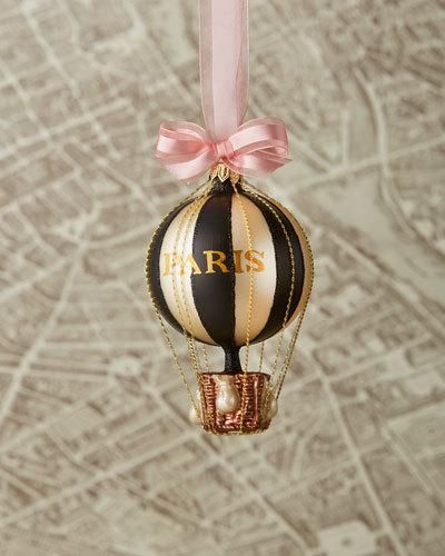 H8H6S Cortina Paris Hot Air Balloon Christmas Ornament