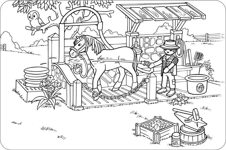 Ausmalbilder Playmobil Pferde | ausmalbilder | Pinterest