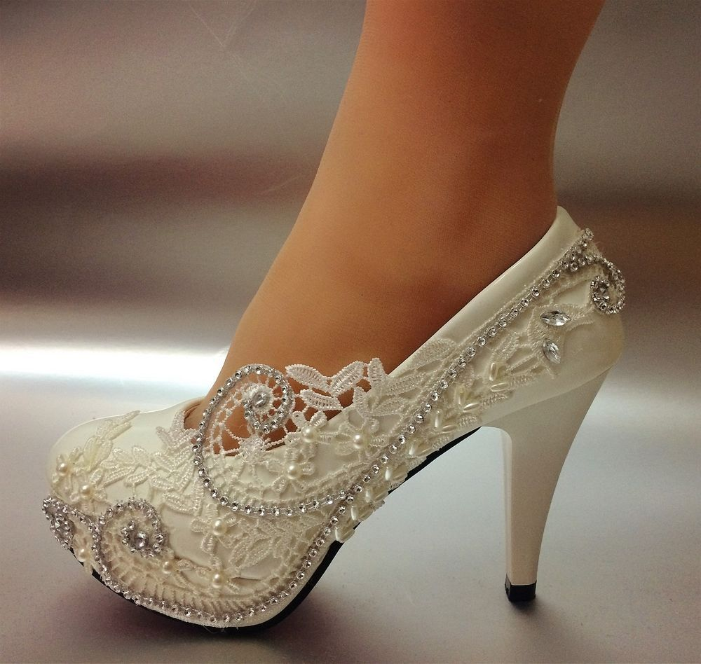"""Details about su.cheny 3""""4"""" white light ivory lace"""