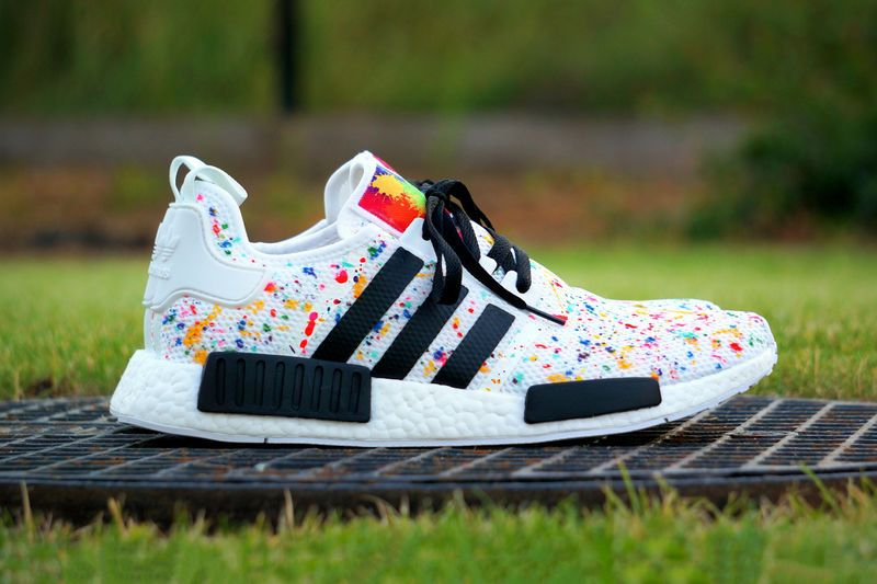 Splashed Paint Sneakers | Mens Shoes | Adidas nmd, Adidas