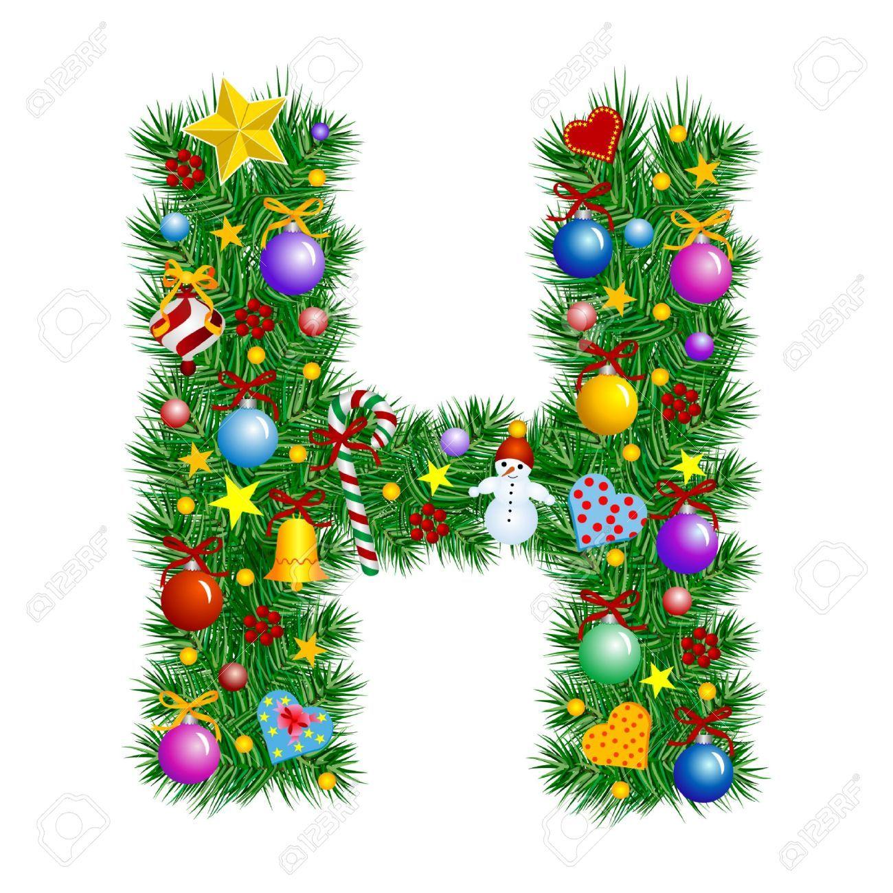 Christmas Letter H Letter H Christmas Tree Christmas Lettering Christmas Alphabet Christmas Fonts