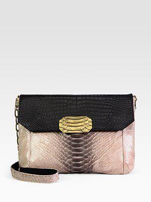 Python Embossed Shoulder Bag by Raven Kauffman #Handbag #Raven_Kauffman