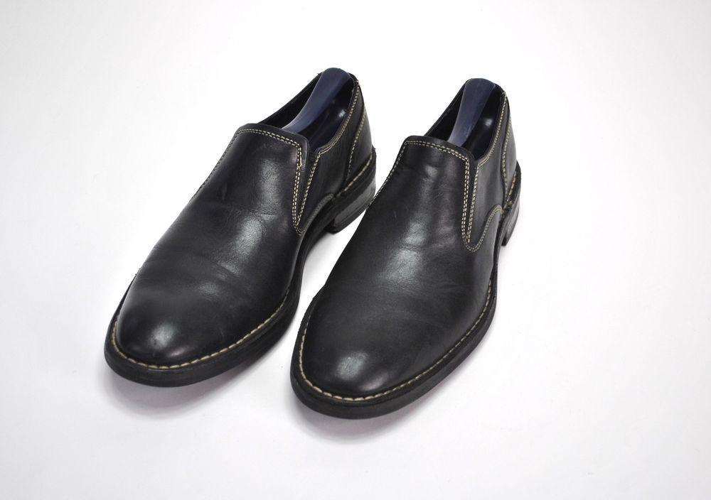 097c3998656e COLE HAAN Men s Oxford Slip on Black Leather Dress Shoes Sz 8.5 M C11854   ColeHaan  Oxfords  Casual