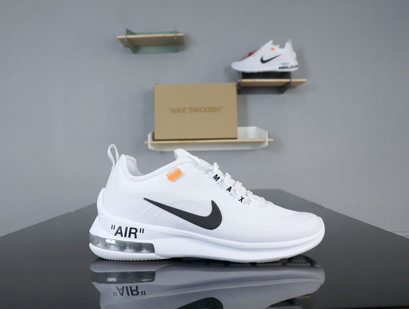 efeeadc79383 Nike Air Max Axis X OW AA2168-100 White Black