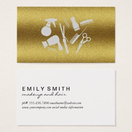 Hair stylist tools gold lux business card stylist business card hair stylist tools gold lux business card colourmoves