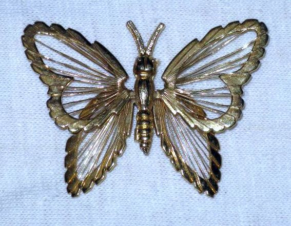 Vintage 1970s MONET Articulated Butterfly Brooch/Pin  (B-2-1) via Etsy