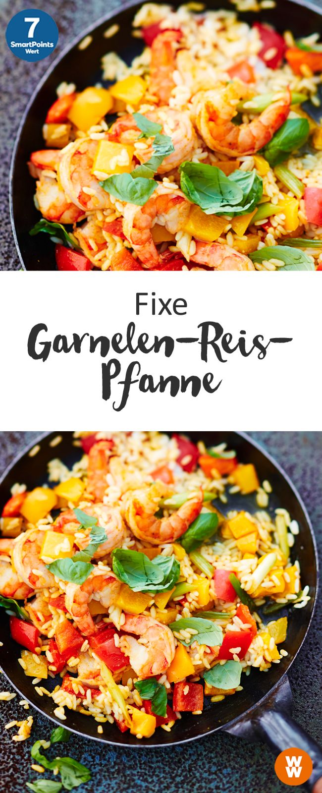 Fixe Garnelen-Reis-Pfanne #cleaneating