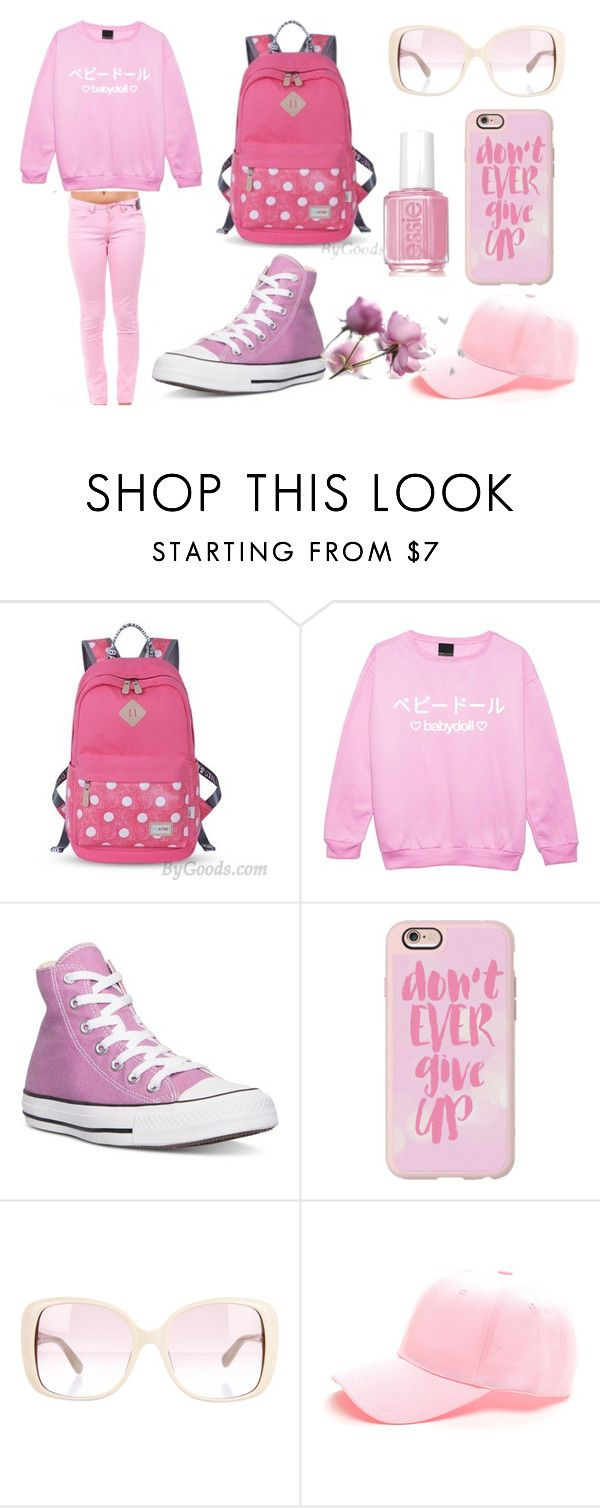 """""""Let's Go to  travel."""" by bygoods ❤ liked on Polyvore featuring Converse, Casetify, Valentino and Essie"""