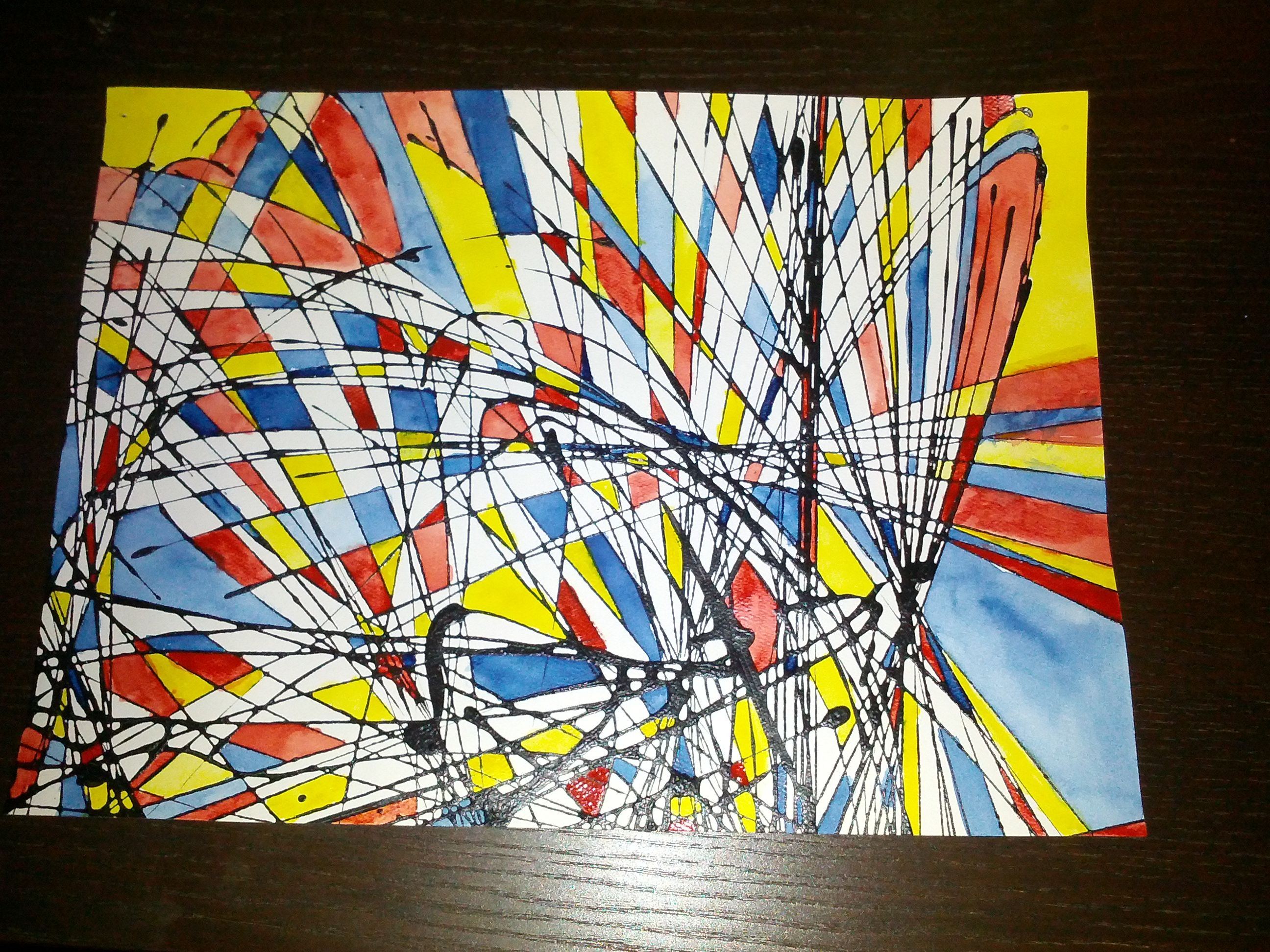 My Watercolor Art Project Pendulum Painting On Watercolor Paper