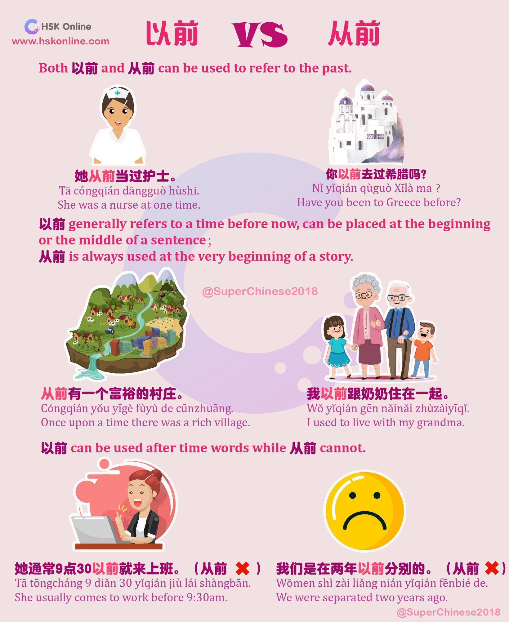 以前(yǐqián) and 从前 (cóngqián)
