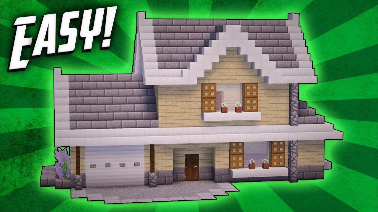 Minecraft How To Build A Suburban House Tutorial