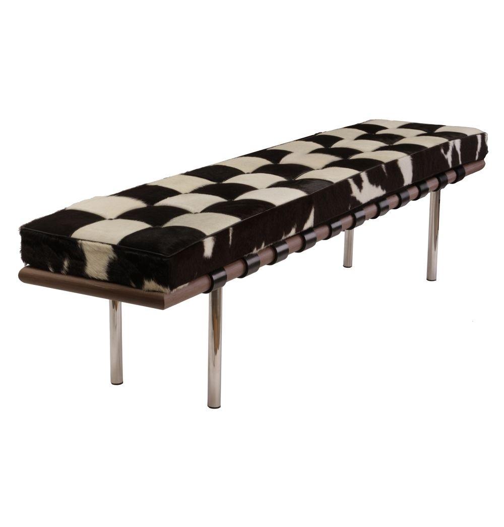 Replica Mies van der Rohe Barcelona Bench 198cm - Cowhide by Mies Van Der Rohe - Matt Blatt