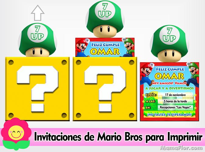 Invitaciones Mario Bros Invitaciones De Mario Bros