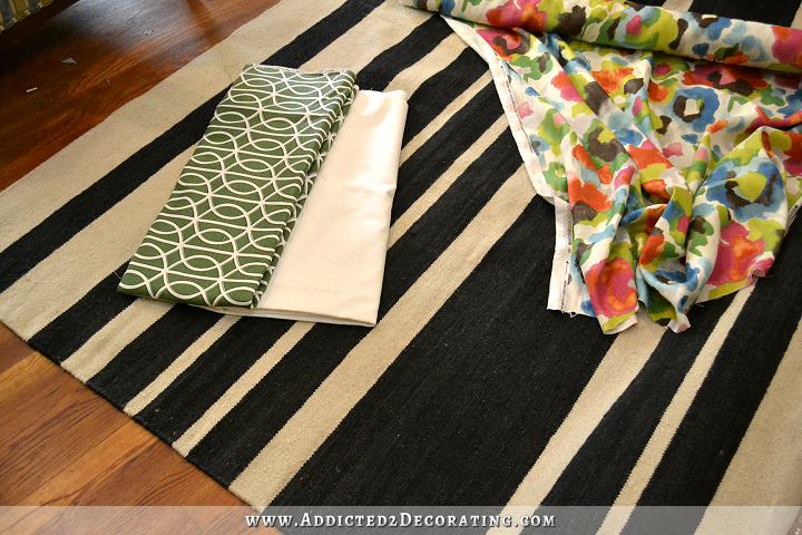 fabrics and rug for dining room - 2