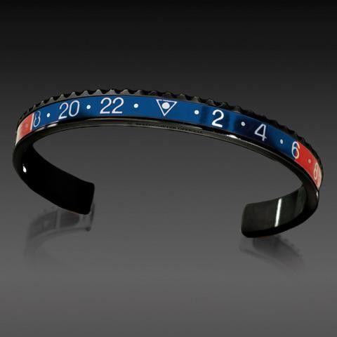 Speedometer Official Bracelet- Black Series, Blue /Red