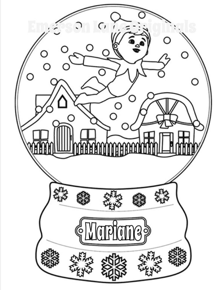 Color Your Own Elf On The Shelf T Shirt Personalized Fun Gift Christmas Coloring Pages Free Christmas Coloring Pages Christmas Colors