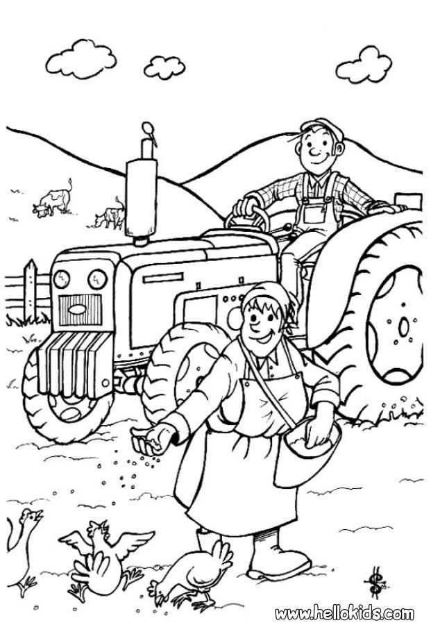 Farm Animal Coloring Pages Farmer Farm Animal Coloring Pages Animal Coloring Pages Tractor Coloring Pages