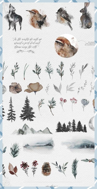 Frostbound   Winter Wonderings Set von OpiaDesigns auf Creative ...