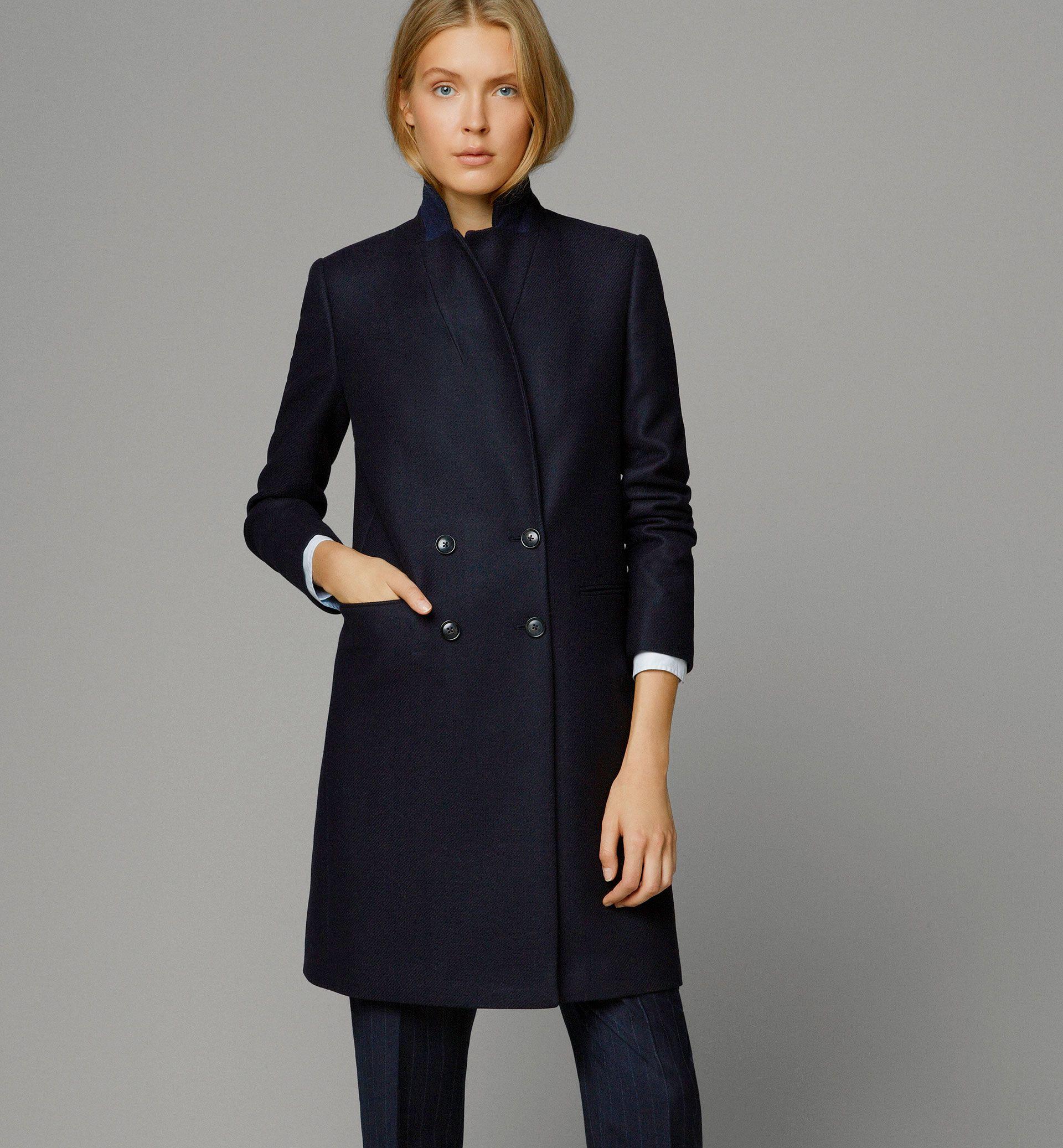 bd57e0cd6 Massimo Dutti - 6426/933 - NAVY COAT - Coats & Jackets | Coats and ...